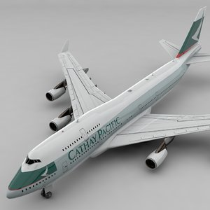 boeing 747 cathay pacific 3D model