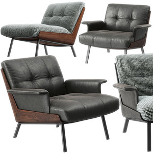 3D model daiki armchairs minotti