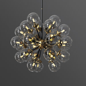 soleil 18 globelight chandelier 3D model