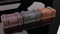 SciFi Container with three textures