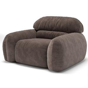 granpiumotto busnelli armchair 3D model