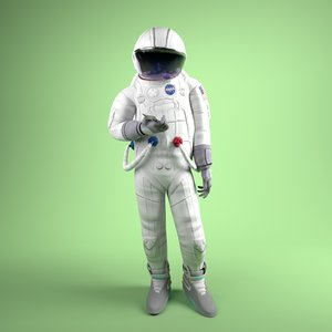 3D model astronaut cartoon