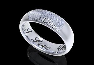 fingerprint men ring engraved 3D model