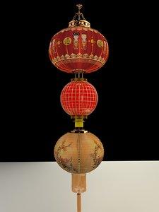 3D chinese red lantern model