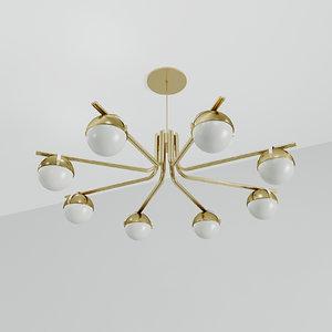 lamp chandelier bulbs 3D