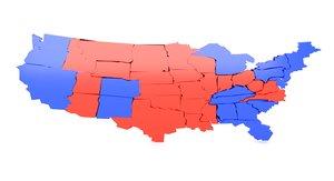 usa election 3D model