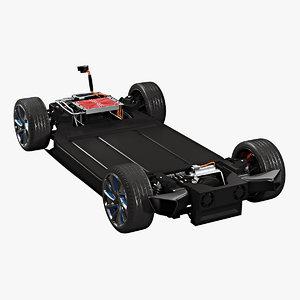 generic sport car platform 3D model