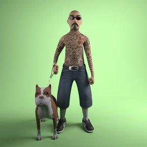 mexican gang member 3D model