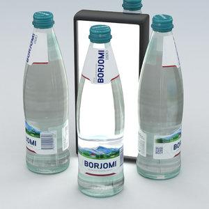 beverage bottle water 3D