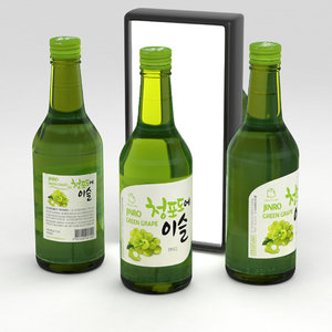 3D bottle alcohol
