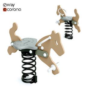 3D model spring rocker puma-hop