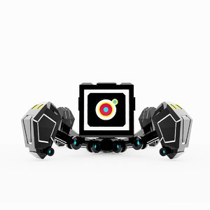 quad pod robot guns 3D model