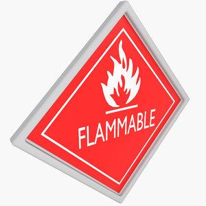 warning sticker 3D