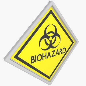 3D warning sticker model