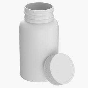 3D plastic bottle pharma 250ml