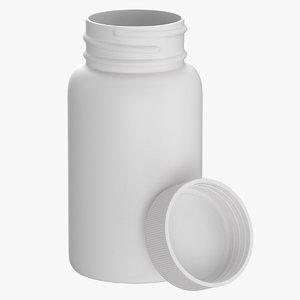 plastic bottle pharma 500ml 3D