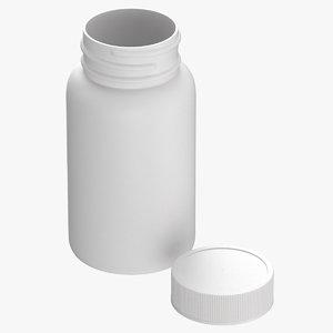 plastic bottle pharma 625ml 3D model