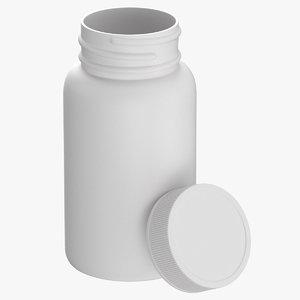 3D plastic bottle pharma 625ml model