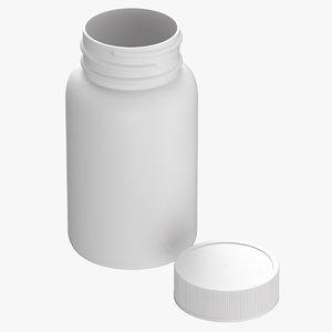 3D model plastic bottle pharma 750ml