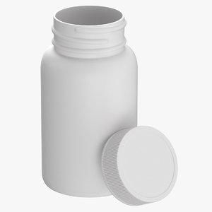 3D plastic bottle pharma 750ml