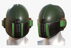 gas mask helmet 3D model