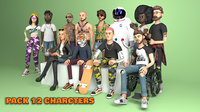 Pack 12 Characters