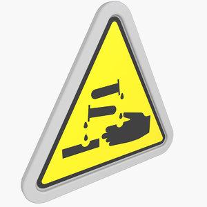 3D warning sticker