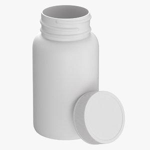 plastic bottle pharma 950ml 3D