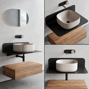 vanity plana washbasin 3D model
