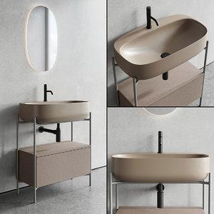 floor-standing vanity diva unit 3D model