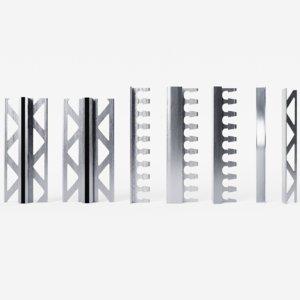 3D pbr set steel profiles