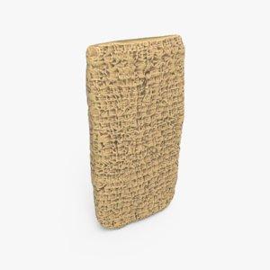 tablet clay ancient 3D model