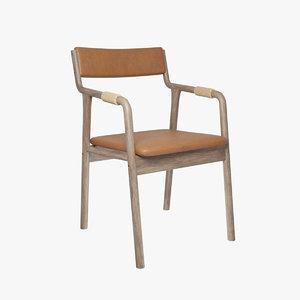 3D armrests chair retro