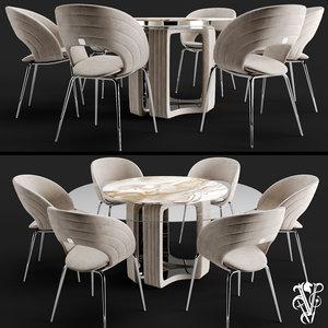 visionnaire table chair 3D