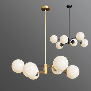bellago 6-light chandelier allmodern 3D model