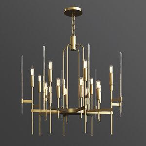 hudson valley bari chandelier 3D