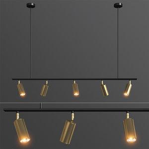 3D lino linear spotlight pendant model