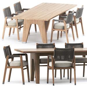 3D model ortigia chair monreale table