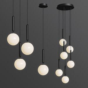 miira nuura pendant chandelier 3D model
