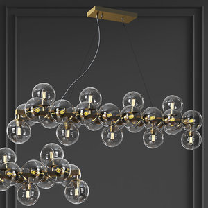 3D maytoni linear pendant lamp model