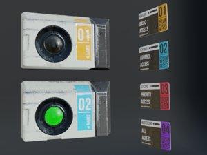 sci-fi keycard scanner 3D model