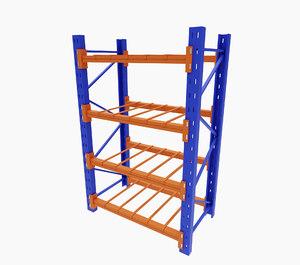 3D shelving shelf furniture model