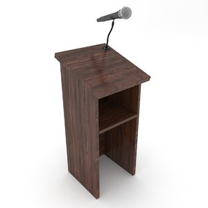 3D podium microphone