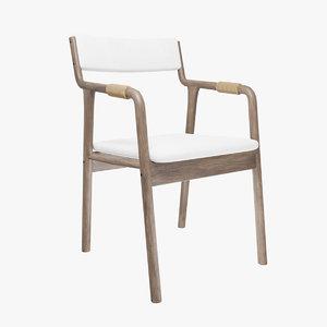 retro armrests chair 3D model