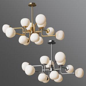 chandelier erich mod221-pl-12-g 3D model