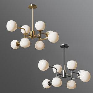 3D chandelier erich mod221-pl-08-g model