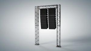 line array speaker 3D model