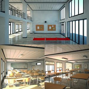 school spaces 3D