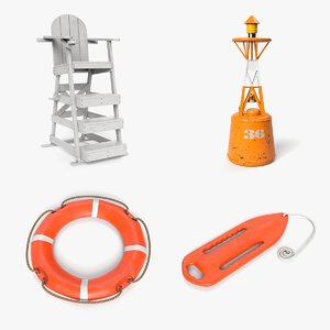 3D lifeguard buoy life modeled