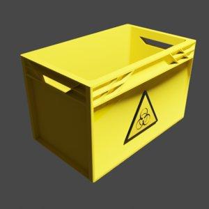 3D model biohazard transport box